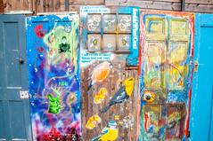 Three doors along (Tony Shertila) Tags: europe britain england merseyside liverpool balticmarket door shop art painting unitedkingdom gbr