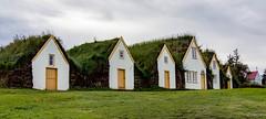 Glaumbær í Skagafirði (einisson) Tags: glaumbær skagafjörður turfhouse church iceland ísland houses grass outdoor clouds einisson canon70d