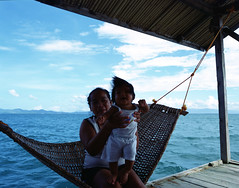 Simple Happiness (Mikah_Manansala) Tags: analogue analog film filmforever ilovefilm ishootfilm medium format 120 6x7 pentax slide fujichrome portrait travel philippines palawan
