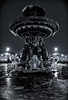 Icy Fountain (FRSK Photography) Tags: canon 1740 7d paris concorde fontaine capitale europe ice winter frsk longexposure hdr blackwhite noiretblanc night nuit pauselongue city bw monochrome hiver panoramique panoramic