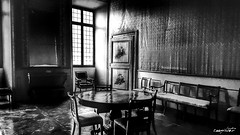 la stanza dei ricordi, the memories room (Massimo Vitellino) Tags: blackandwhite hdr indoors window room abstract contrast conceptual lights shadows house perspective structure noperson