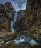 In the Gorge .. (Gordie Broon.) Tags: wailingwidowfalls unapool newton skiagbridge assynt sutherlandshire waterfall scottishhighlands february gorge scotland schottland scenic lochnagainmhich burn rio ecosse caledonia escocia alba aghaidhealtachd paysage gordiebroonphotography paisaje landscape landschaft scenery kylesku scozia szkocja 2018 rocks nc500 sky clouds sonya7rmkii ilce7rm2 sonyzeiss1635f4lens a894 geotagged