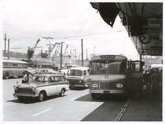 Auckland Bus Terminal (Archives New Zealand) Tags: archivesnewzealand archives archivesnz nz nzhistory newzealand newzealandhistory aotearoa nationalpublicitystudios bus transport