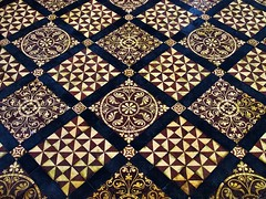 Victorian floor tiles, Cathedral and Abbey Church of Saint Alban, Saint Albans, Hertfordshire, England.. (edk7) Tags: olympusomdem5 edk7 2017 uk england hertfordshire cityanddistrictofstalbans stalbans stalbanscathedral cathedralandabbeychurchofsaintalban churchofengland cathedral cathedralchurch parishchurch architecture building oldstructure floor tile ceramic pattern texture symmetry