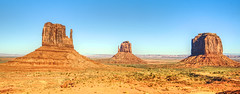 Monument Valley pano (Herculeus.) Tags: 2016 nativeamerican navaho navahonation nikonafsnikkor1635mmf4 nikond600 oct monumentvalley landscape landscapes mittens erosion rock rockformations valley west usa outside outdoors outdoor day