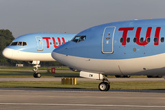 A Tail of Two Thomsons' (Vanquish-Photography) Tags: goobg thomson airways b757200 gfdzw b737800 manchester ringway airport egcc man manchesterairport manchesterringway manchesterringwayairport