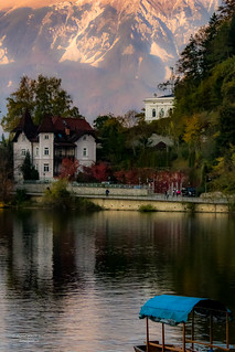 Lake Bled in late afternoon, Slovenia, Balkans