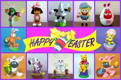 ES 2016-01  Cartoon Characters (StarRunn) Tags: easter holiday mms doratheexplorer hersheyskiss smurfs spongebobsquarepants spongebob garfield tweety snoopy whinniethepooh pvc toys candy eggs looneytunes