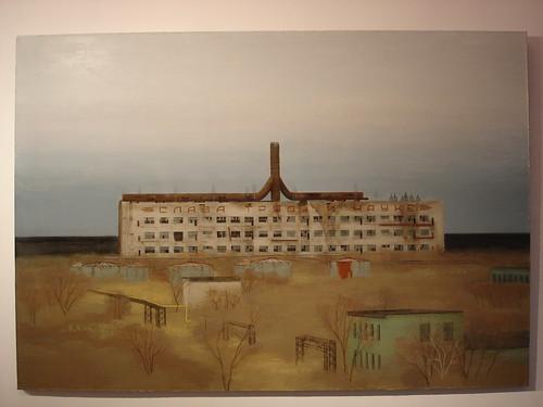 Картина с заброшенным заводом