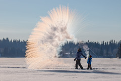 Mpemba Effect (robertdownie) Tags: mpembaeffect mpemba coffee frozen frozenlake adult beautyinnature bonding britishcolumbia canada coffeeintheair coldtemperature crisp day family familywithonechild leisureactivity nature outdoors people realpeople sky standing sunrise togetherness