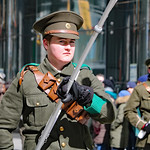 Faces of St. Patrick's Day Parade: Watchful eyes of a soldier thumbnail