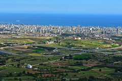 View of Mersin (cengizskpl) Tags: turkey mersin city blue sky road green sea akdeniz toroslar buildings nikon7200 1855 highway landscape