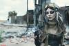 Shelby (VK3Photographix) Tags: cosplay fallout gunner raider postapocalyptic wasteland female feminine grunge endoftheworld apocalypse dystopia dystopian leather gun goggles rubble detroit