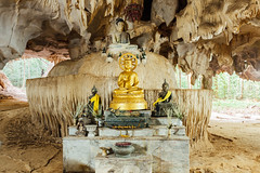 Image of Buddha in the cave (Evgeny Ermakov) Tags: asia asian buddha krabi southeast southeastasia thai thailand tigercave tigercavetemple ancient antique buddhism buddhist buddhistic cave culture decoration decorations destination exotic gold golden heritage holy image meditation old outdoor outdoors pray religion religious statue stone temple tourism touristic traditional travel