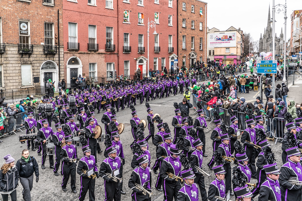 THE LUMBERJACK MARCHING BAND IN ACTION [ ST. PATRICKS DAY PARADE IN DUBLIN 2018]-137585