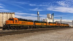 GP38-2 Ready for service (Kool Cats Photography over 10 Million Views) Tags: train locomotives oklahoma railroads tracks sky clouds landscape scenic photography