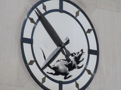 IMG_8361 (Brechtbug) Tags: clock rat running closed bank building banksy sidewalk wall painting the west side corner downtown 6th ave 14th street 03182018 graffiti arts midtown manhattan new york city 2018 nyc art artist artwork silhouette anonymous brit british english uk united kingdom residency mystery exit through gift shop 2014 sixth avenue fourteenth st