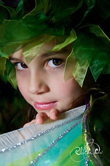 Rowan the fairy (glasskunstler) Tags: fairy costume child model beauty browneyed portrait actress wings glance sparkle ribbon childsplay dressup magical flight