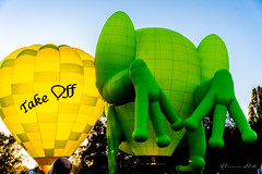 Ballooning in Canberra (Theresa Hall (teniche)) Tags: 2018 australia canberra canberraballoonspectacular canberraballoonspectacular2018 canberraphotographer enlightenfestival teniche theresahall balloon balloons flying flyinghigh hotairballoon hotairballoons