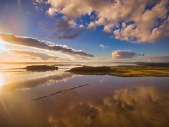 Strangford Lough (sav74) Tags: calm islands clouds luminar goldenhour coast water seascape landscape drone phanton3advanced strangfordlough uk ulster northernireland countydown greyabbey dji sky sea reflection winter aerial scrabotower ardspeninsula