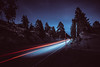 cool (Art by 2wenty) Tags: 2wenty night midnight car nature mountains mood moody longexposure