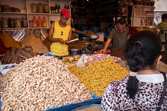 Spice Market (Mike Gabelmann) Tags: africa casablanca food fruit garlic ginger herbs market morocco people spices tumeric