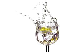 Lemon Splash (zuni48) Tags: highkey negativespace whitebackground wineglass watersplash glass dogwood52 dogwood2018 dogwood2018week11