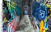 Side Alley, Art Alley, St Catharines (jwvraets) Tags: stcatharines artalley graffiti backalley wall art colourful opensource rawtherapee gimp nikon d7100 nikkor1224mm