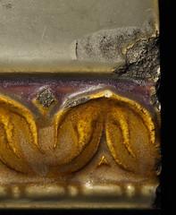 Chipped Rookwood Tile (j.towbin ©) Tags: allrightsreserved© macro imperfection macromondays rookwood tile artsandcrafts glaze chipped damaged pottery architecturaltile antique