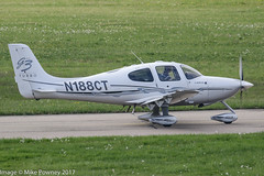 N188CT - 2008 build Cirrus SR22 GTS G3 Turbo, taxiing for departure on Runway 24 at Friedrichshafen during Aero 2017 (egcc) Tags: 2983 aero aerofriedrichshafen aerofriedrichshafen2017 bodensee cirrus cirrusdesign edny fdh friedrichshafen g3 gts generationthree lightroom n188ct planefun sr22 sr22gts