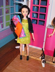 Spending the night at my BFF (flores272) Tags: leadoll barbie barbiedoll barbieclothing barbiefashionistas petcat toycat pet barbiepet doll dolls toy toys