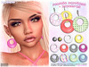 [ bubble ] Plastic Earrings Patterns (::: insanya ::: & [ bubble ]) Tags: secondlife bubble originalmesh accessories earrings plastic mesh hud discounted thechapterfour under100l exclusive
