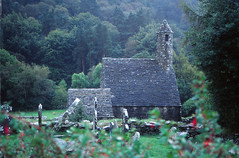 Glendalough (demeeschter) Tags: ireland wicklow glendalough lake valley heritage historical medieval abbey ruins monastery building architecture round tower religion church