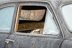 Enough With The Fresh Air Already (rickhanger) Tags: vehicles car automotive automobile auto frost frosty frozen window openwindow cold freezing