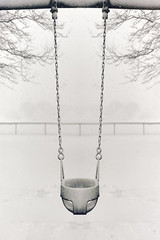 Scenes from a winter day at the playground (WilliamND4) Tags: sliderssunday hss snow storm nikon d810 blackandwhite