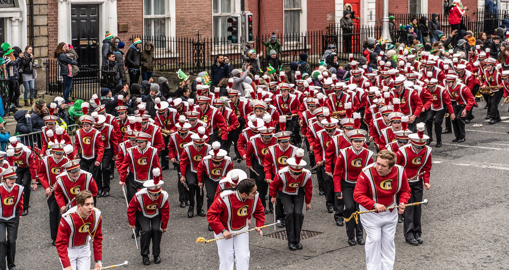 Lakeville South High School Marching Cougars [Dublin Parade March 17 2018]-137672