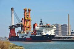Aegir (Hugo Sluimer) Tags: portofrotterdam port haven onzehaven nlrtm zuidholland nederland holland aegir heerema