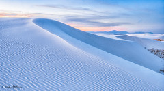 "'Winter-Sunset in White Sands"" (Chuck Harlins Photography) Tags: whitesands dunes newmexico nationalparks sanddunes"