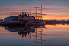 Connection (raymond_carruthers) Tags: tallship morning maritime ship scotland zahahadid river riverclyde museum reflections city riversidemuseum pointhousequay sunrise glenlee glasgow