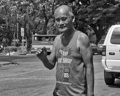 Hello Sir (Beegee49) Tags: man vendor smiling waving street bacolod city philippines