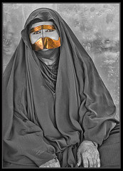 """""""Woman of the Souk"""" (flavius200) Tags: flavius200 dorking photocraft camera club fishing woman bedu bedouin arabia desert sand scrub mountain sex married young female mono nikon d200 wilfred thesiger desolate isolated uae wife burka hijab respect companion companionship partner love adoration 4x4 camping alone traveller exploring tribes david harford morning evening night market"""