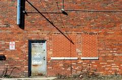 Beware of Dog (Cragin Spring) Tags: building brick bricks door illinois il midwest unitedstatesofamerica blueisland blueislandil blueislandillinois wall