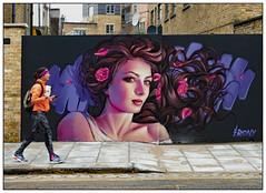A Touch of Irony (donbyatt) Tags: streetart graffiti spraycans urbanwalls camden street irony candid people