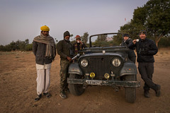 Expedition Ready | Masala Chai and a Mahindra MM 550 XD (Paul B Jones) Tags: india tea 4x4 expedition siyana rajasthan mahindramm550xd4wd canoneos5dmarkiv ef1635mmf4lisusm 4wd jeep armysurplus asia asian tourist tourism travel ecotourism indian indiya inde indien indië people group crew vehicle