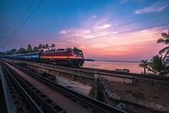 Indian Railway (Navaneeth Kishor) Tags: railway railways indianrailway indianrailways train peruman kerala keralam sunset india indian lake ashtamudilake vibrant sky travel kollam munroe munroeisland munroethuruth edachirabridge edachira godsowncountry keralatourism