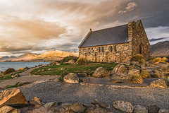 With the last rays of the sun (Hanna Tor) Tags: travel church nature lake newzealand hannator tourism mountains sunset