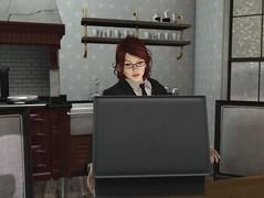 Vincent - We Happy? (Kallisti Burns) Tags: secondlife spoof pastiche pulpfiction virtual 3d suitcase scene kitchen ezekiel2517