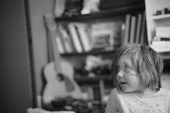 DSC09542 (Oleg Green (lost)) Tags: morning saturday home family kid daughter bw blackandwhite digitalback manualfocus raw kmz sonnar zk 1550 bokeh