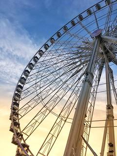 Paris France - The Roue de Paris - Ferris Wheel - Gondolas