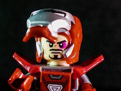 Iron Man - portrait study (Things and that!) Tags: porträt man disney rüstung iron tony avengers stark portrait helmet lego armor helm rot marvel red suit armour anzug